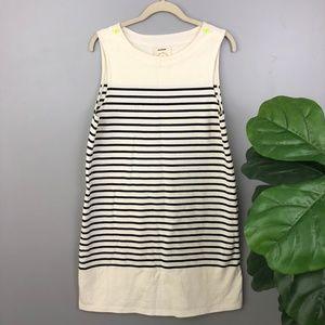 Anthro AlliHop Sailor Striped Black White Dress M